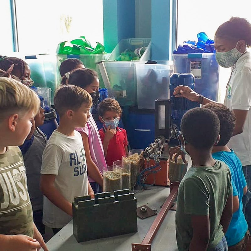 Recycling education and tours in Curacao