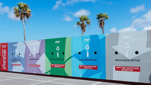 Recycling collection station at Sambil Curacao by Green Phenix